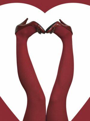 Panty kousen rood 60 den grote maten