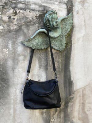 Zwarte handtas in leder van Sticks & Stones